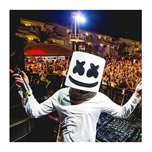 Kostüm Daft Halloween Punk - Marshmallow-Maske, DJ-Kopfbedeckung, Partymaske, Halloween, DJ-Maske, Gruselige Horror-Maske, Prom-Requisiten