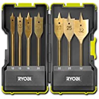 Ryobi RAK07SB - Set 7 Brocas planas o de pala para madera