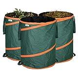 GARDEBRUK - 3x Sac de déchets de jardin 165L max. 30kg par sac tissu renforcée hydrofuge ordures bac