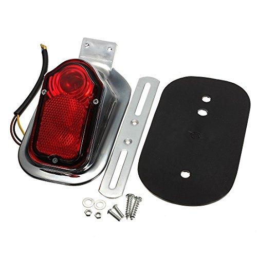 DLLL Motorrad Rückleuchte Lampe Licht Universelle Passform für Fahrräder, Bremshebel Suzuki Motorrad, Curiser, Touring, ATV, Roller, Chopper, Harley Yamaha