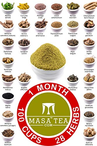 Masa Tea 1 Month Diet Pack - World's Best Fast Slimming Weight Loss Anti Cellulite Body Reduction Detox Tasty Organic Green Herbal Health Drink Supplement Powder Concentrate for Women & Men
