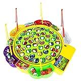 F Fityle Elektrisches Fisch Angeln Spielzeug, Elektro Angelspiel Musikalisches Rollenspielzeug für Kinder Früherziehung - # A