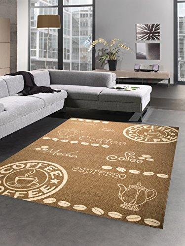 Carpetia Teppich Sisal Optik Küchenläufer Küchenteppich Coffee braun Größe 80x200 cm