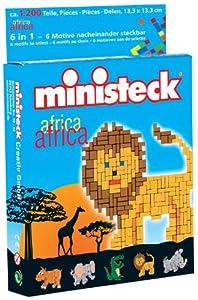 Ministeck 32540 - Puzzle 4 en 1 de 1200 Piezas, Motivos de Animales de África