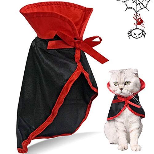 Haustier Hund Katze Halloween Kostüme,Katzen Kostüm,Halloween Haustier Kostüme Nettes Cosplay Vampirs-Umhang-Kap Für Kleine Katzen - Teddybär Halloween Kostüm