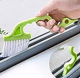 uchic 2pezzi Hand Groove Gap Strumenti di pulizia porta finestra Track cucina spazzolino per la pulizia di colore dopo Casuale