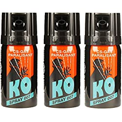 3x-KO Spray 007 CS-GAS PARALISANT zur selbstverteidigung 40ml