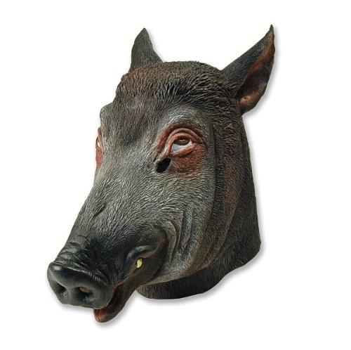 3Wildschweinmaske (Einheitsgröße) (Farm Tier Kostüme Kinder)