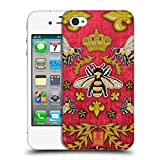Head Case Designs Kord Und Bienen Gedruckte Patches Und Textilien Ruckseite Hülle für iPhone 4 / iPhone 4S