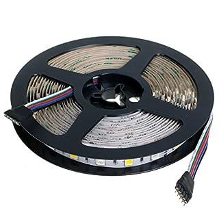 500cm 5 Meter RGBW RGB + Warmweiß Warm Weiß LED Leuchtband Streifen Licht 12V 72W 300 Birnen SMD 5050 Höchstleistung Selbstklebend Abschneidbar für Heimkinos Urlaub Dekorationen