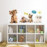 WALL STICKERS Cani I love Puppies - CUTE DOGS Poster Adesivi Murali