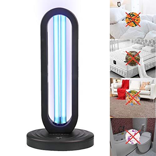 YMN Germicida UVC 38W Luz Recargable esterilizador Ultravioleta lámpara UV Tubo de Bolas ozono desinfección...
