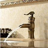Amazon verkaufen Bad Armatur antike Waschbecken Wasserhahn heiß und kalt - wasseranschluß Einloch mischbatterie Single Handle Faucet versichert zu kaufen