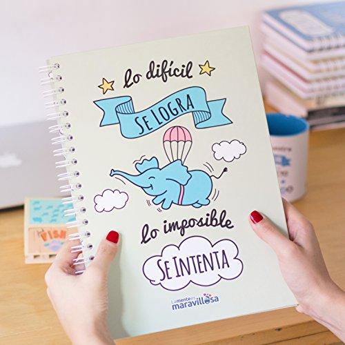 La mente es maravillosa-Cuaderno A4-Regalo para amiga con dibujos-CERDIFANTE/ESP