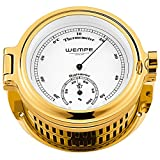 Wempe Hygro-/Thermometer Regatta Messing Vergoldet