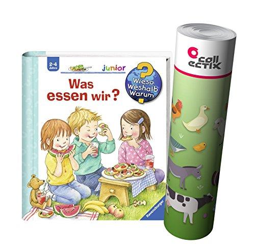 Ravensburger Junior Kinder-Buch Band 53   Was essen wir? + Bauernhof Tiere Poster by Collectix