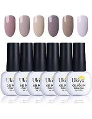 Ukiyo 6 couleurs Gel vernis semi permanent soak off UV Nail semipermanent Gel Color LED Nail Art Kit Set Series