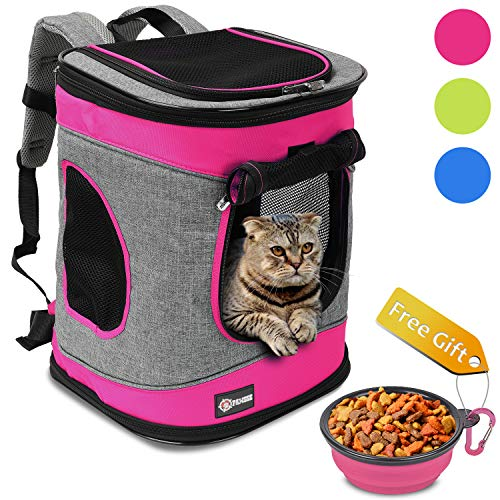 d106de95fc Pawsse Dog Backpack Pet Carrier Backpack for Cats and Dogs up to 15 LBS  Outdoor Travel
