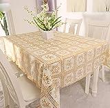 De style européen jardin PVC Table imperméable en plastique à usage unique table de linge de table en tissu table de napperon de toile cirée d'armement mat , 016 whole , 90*137cm