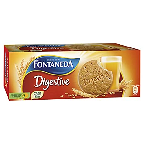 Fontaneda Digestive Galletas de avena 400 g Pack de 5