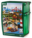 BRIO World 33766 - Großes BRIO World Premium Set, Kunststoffboxen, Eisenbahn
