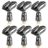 Neewer 6 Pack Universal Mikrofon Clip Halter mit 5/8 Zoll Stecker auf 3/8 Zoll weiblichen Metall Nuss Adapter für Handmikrofone