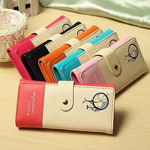Bazaar PU Geldbörse Leder Frauen-Handtasche Scheckheft Stück Karte von Handtasche (Brieftasche Scheckheft Tasche)