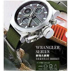 Enjoy Watch Automatic Chronograph Waterproof Sport Watch for Summer Holidays Beach Sports Mountain Climber Wrist Watch (Green)