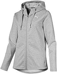 Puma Modern Sport FZ Logo Hoody Sweatshirt, Mujer, Light Gray Heather, M