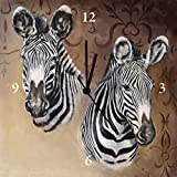 Clock Wall Clock on canvas Watches Radio controlled Artland Animal Zebra A. Heins: Zebra Portraits in Different Sizes Huge selection in our Dealer shop - Analoguhr 30x30 cm