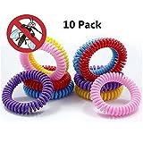 Eslifes 10PCS nuovo bracciale repellente elastici bobina a spirale mano cinturino Band telefono anello catena anti-zanzara bracciale