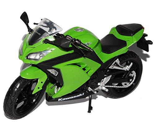 Kawasaki Ninja 300 Grün 1/12 Automaxx Modell Motorrad mit individiuellem Wunschkennzeichen