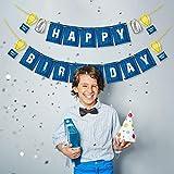 Sayala Happy Birthday Party Banner mit blau personalisierte Geburtstagskennzeichen Banner für Geburtstagsparty liefert Dekoration