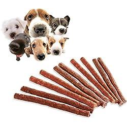 10 STICKS de carne seca - Premio para perro en su adiestramiento y educación