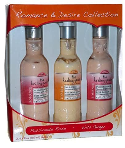 The Healing Garden Romance & Desire Lotion Collection Passionate Rose Wild Ginger by The Healing Garden