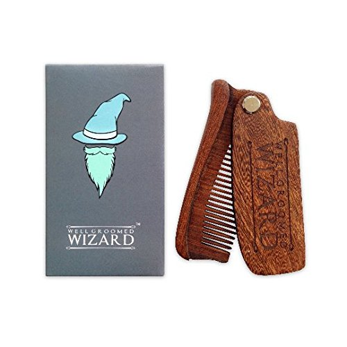 Well Groomed Wizard Peine Barba Plegable