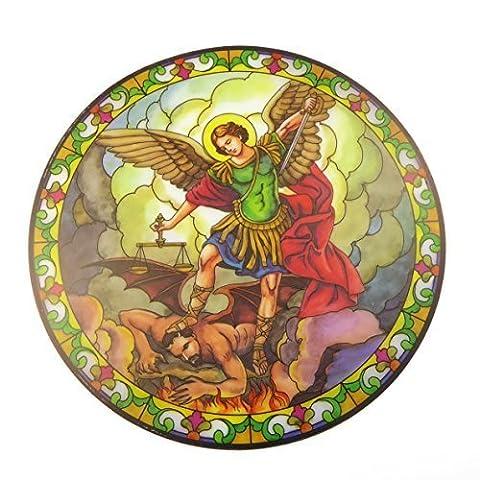 St. Michael Suncatcher gebeizt Glas Fenster Aufkleber Wiederverwendbar 15,2cm Sun Catcher