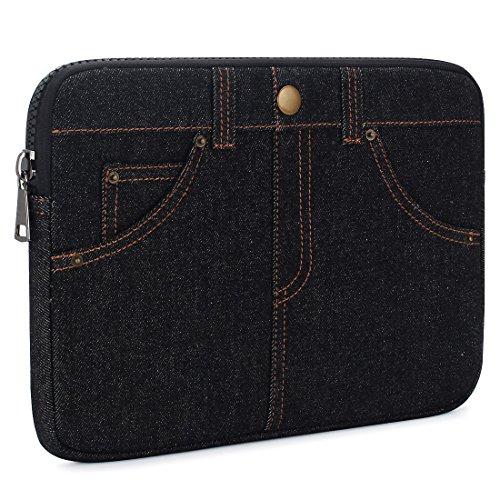 KIZUNA Laptop Tasche Sleeve Case 14 Zoll Hülle Einzigartiges Jeans Design Schützhülle Notebooktasche Für 14