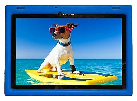 Bobj Etui en Silicone Robuste pour Tablette Lenovo 10 TB-X103F and Tab 2 A10-30, Tab2 X30F - BobjGear Housse de Protection (Bleu)