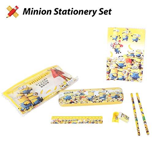 Minion Pencil Case, Compass Box, Stationery Set, 8 Piece Set