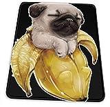 Plátano perro del barro amasado duerme poco y oficinas temáticas Gaming Mouse Pad Gamer accesorios de ordenador Enfriar Mat Pequeño material de la Niña Niño Niños Mujeres Hombres Decoración merchandis
