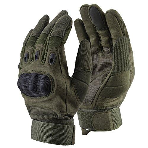 Coofit Sport Handschuhe Winter Motorrad Handschuhe Herren Vollfinger Gloves Biking Skifahre Handschuhe (Grün, L) - 8