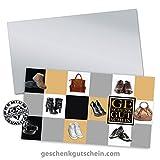 """100 Stk. Gutscheinkarten """"Standard"""" + 100 Stk. Kuverts für den Schuhfachhandel, Mode SH1233, LIEFERZEIT 2 bis 4 Werktage !"""