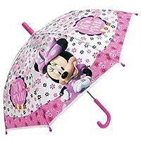 Chanos Minnie Manual Safety Runner Poe Transparent Folding Umbrella, 38 cm, Light Pink