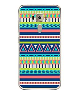 PrintVisa Designer Back Case Cover for Asus Zenfone 3 ZE552KL (5 Inches) (Jaipur Rajasthan Tribal Azitec Mobiles Indian Traditional Wooden)