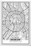 Panorama® Poster Karte von Moskau 50 x 70 cm | Gedruckt