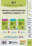 Alpha Test. Kit 3 libri per i test di ammissione a Biologia, Biotecnologie, Farmacia, Chimica e CTF. Manuale, esercizi e prove di verifica