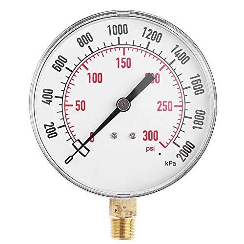 SunYueY 0-2000 Kpa medidor de presión de compresor de Aire, manómetro NPT de 1/4 Pulgadas, 0-300 PSI...