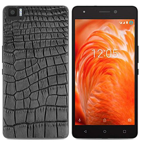 Yrlehoo Für BQ Aquaris M 2017, Premium softe Silikon Schutzhülle für BQ Aquaris M 2017 Tasche Case Cover Hülle Etui Schutz Protect, Krokodil-Muster