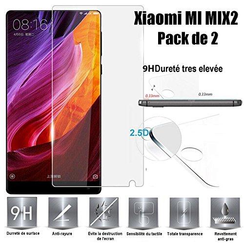 Xiaomi Mi Mix 2 Schutzfolie, Scott-DE Glas Folie 9H Härte Panzerglas [Anti-Kratzen] [Anti-Bläschen] Displayschutzfolie für Xiaomi Mi Mix 2